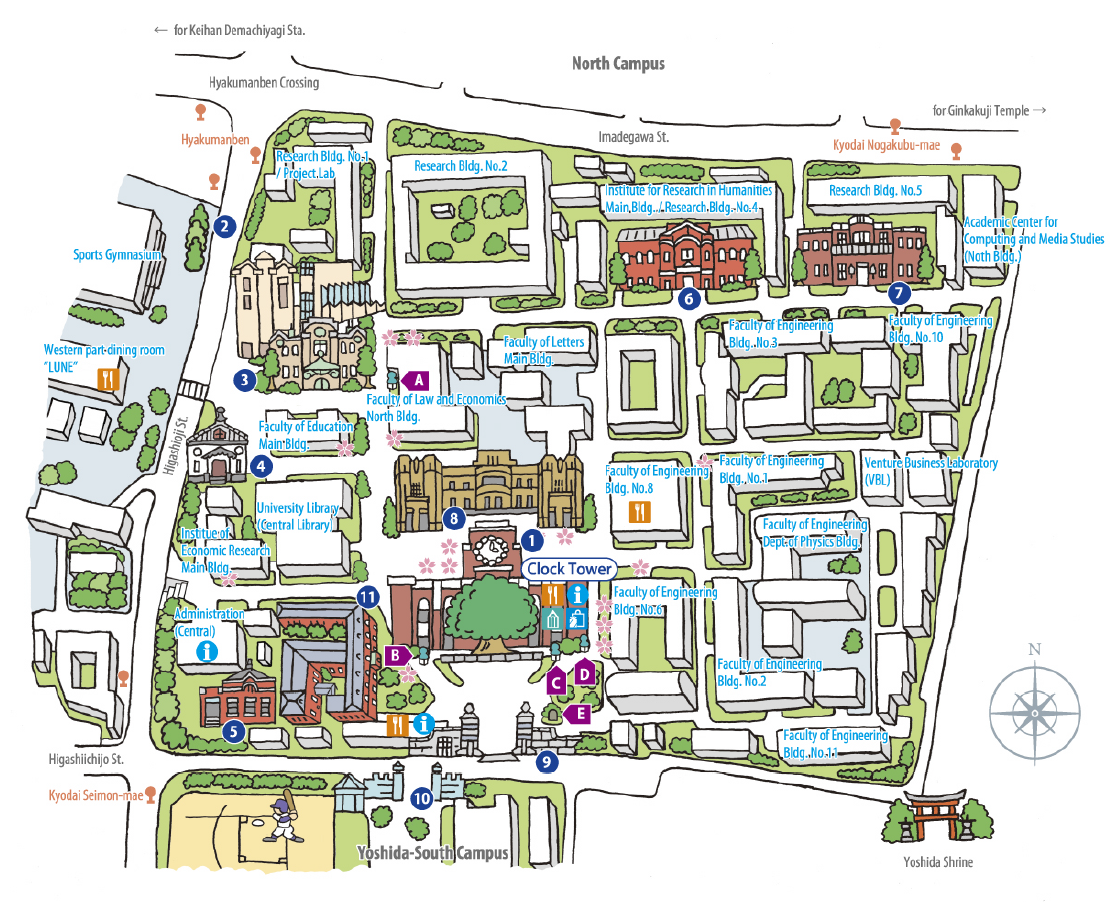 kyoto downtown map Gallery – Kyoto Tourist Attractions Map